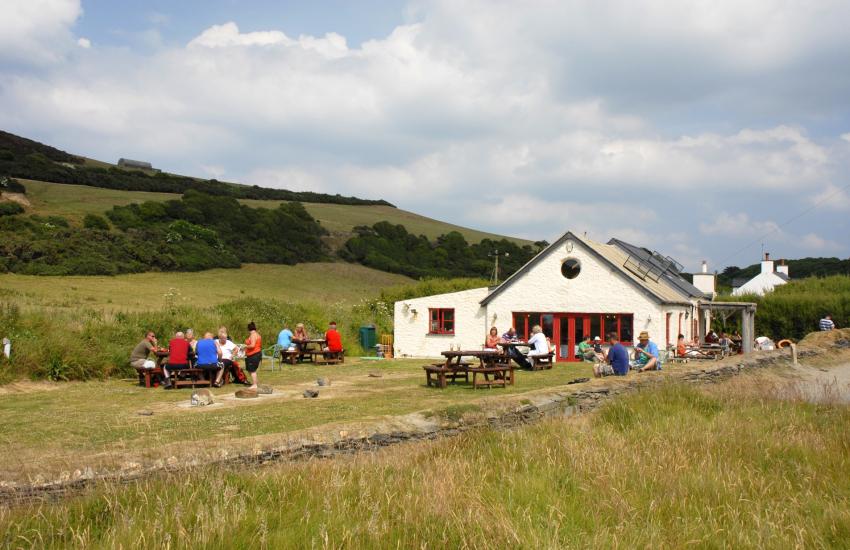 The Old Sailors Inn overlooks Pwllgwaelod beach