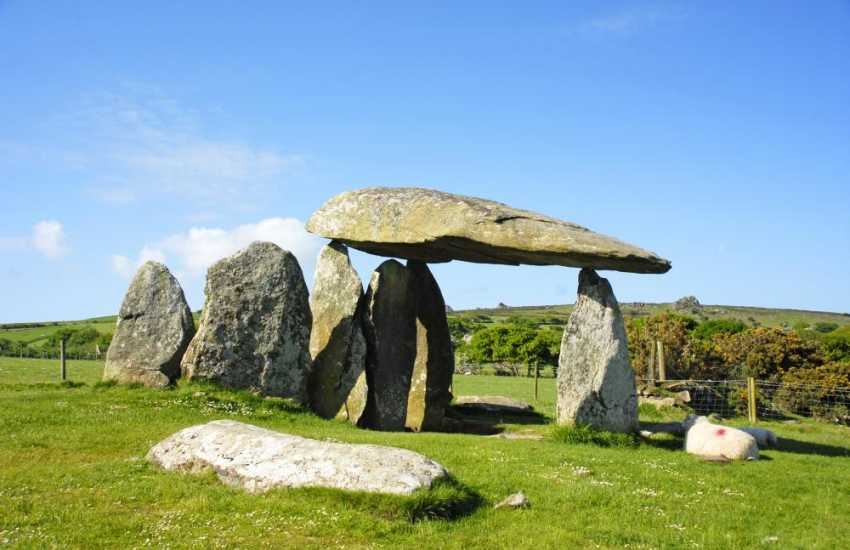 Pentre Ifan - an impressive megalithic burial chamber of with its huge capstone weighing over 16 tons dates back to 3500BC