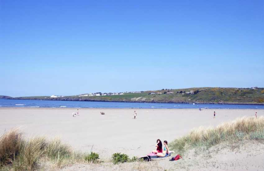 One of the most beautiful beaches in Wales in the unique setting of Poppit Sands, Cardigan.