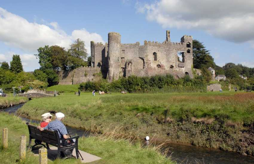 Relax and take in the romantic ruined 12th century castle at Laugharne.