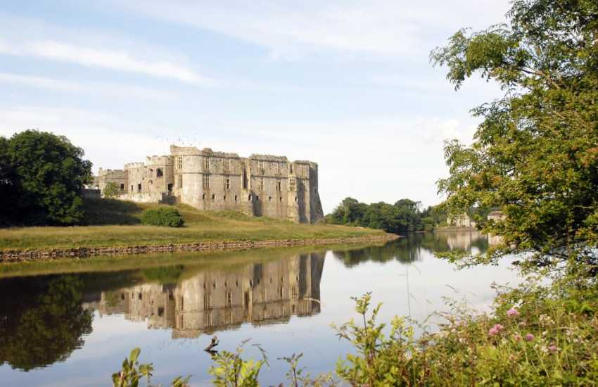 The magnificent Norman Castle at Carew with its Celtic cross and restored tidal mill is well worth a visit