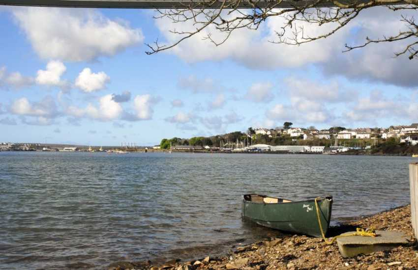 The foreshore just below the gardens on the Cleddau River