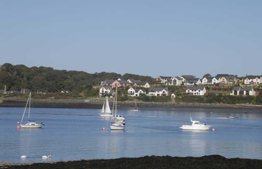 Views across the 'Secret Waterway' to Barnlake Point and Neyland marina.