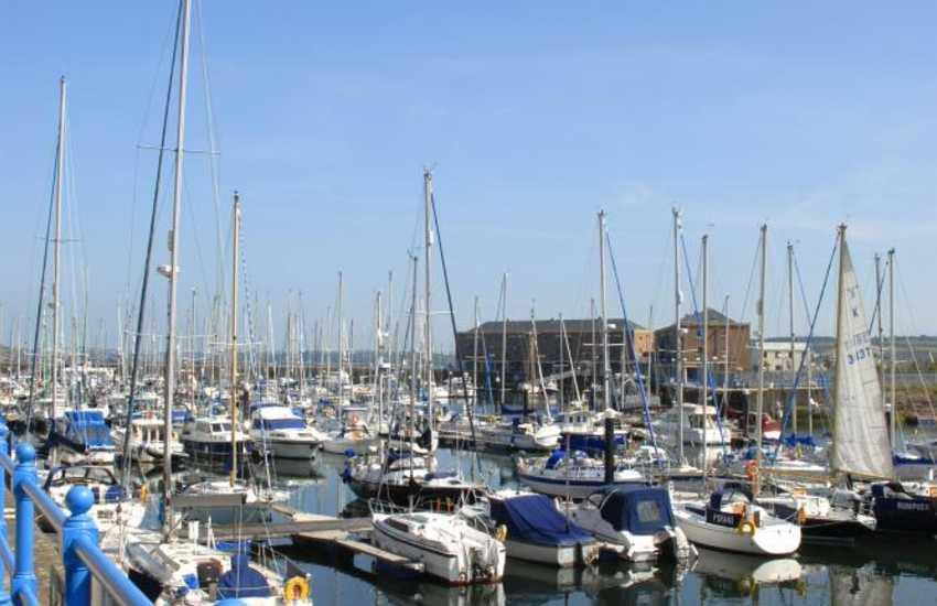 The Marina in Milford Haven, with its shops, cafes, bars, restaurants and fabulous yachts to admire