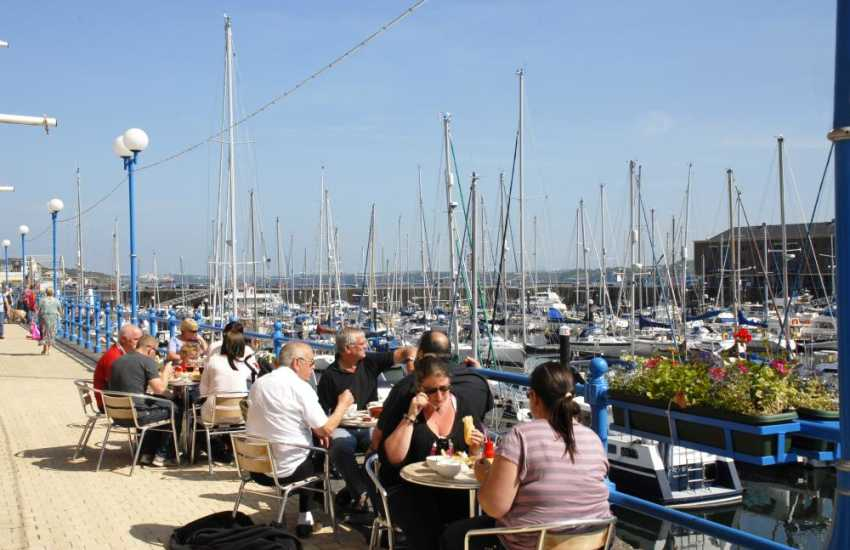 Milford Haven Marina is a lovely place to enjoy alfresco dining beside bobbing boats, bustling shops and the Haven Waterway