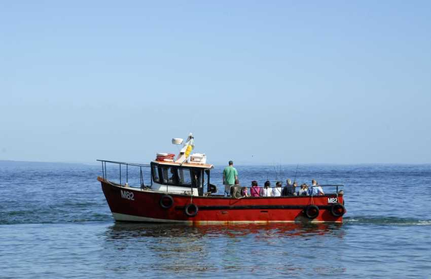 Enjoy a relaxing boat trip out into Cardigan Bay for a spot of fishing or even dolphin spotting