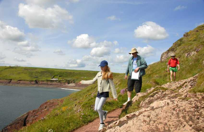 Enjoy fabulous cliff top walking and stunning coastal scenery along the Pembrokeshire Coast Path