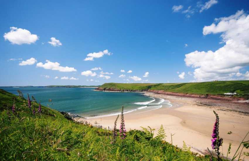 Manorbier beach great fun for all the family