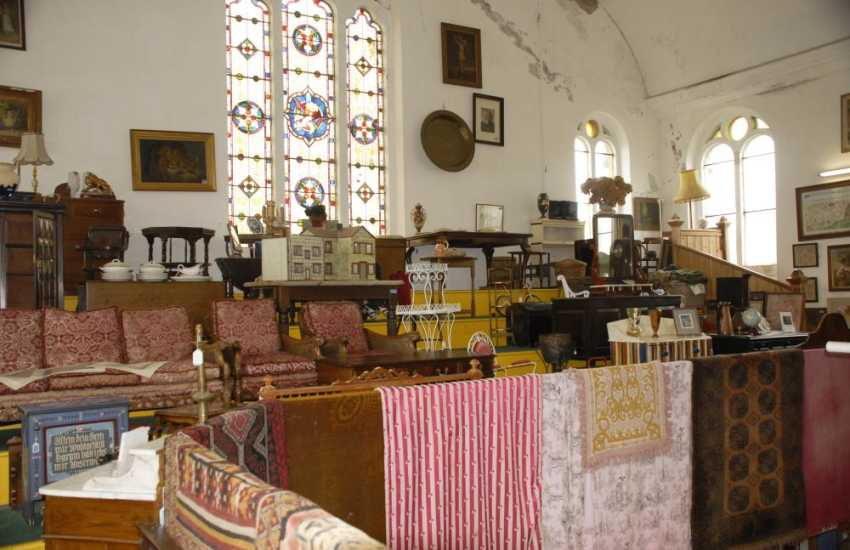 Pembroke town has a variety of shops, restaurants and some fine antique centres in which to browse
