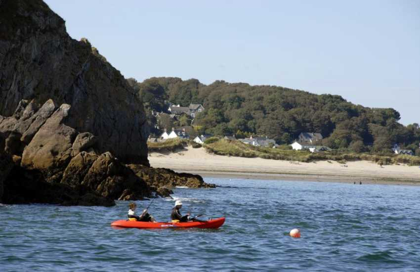 Explore cliffs and sea caves in a kayak - 'Walk on Water' in nearby Saundersfoot offer a full hire service