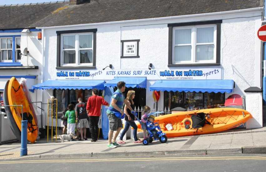 Hire a kayak from' Walk on Water' in Saundersfoot and spend an hour or two at sea - bliss!