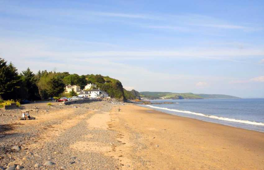 Visit Wisemans bridge beach and pub - enjoy a drink looking out to sea