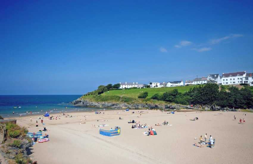 Aberporth on the Cardigan Bay Heritage Coast - a pretty seaside village with two golden sandy beaches (Blue Flag) to choose from