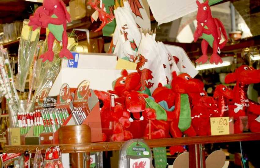 The indoor market in Cardigan - a great place for Welsh souvenirs