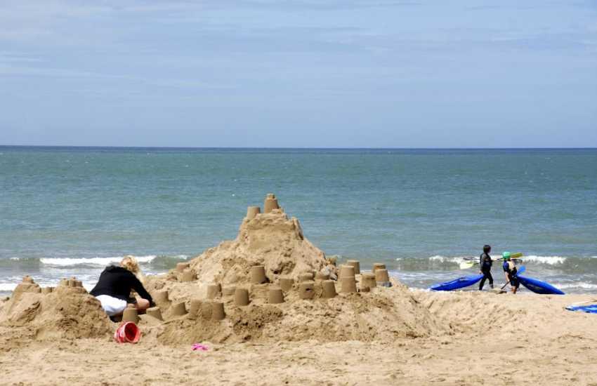 The beautiful sandy beach at Tresaith.