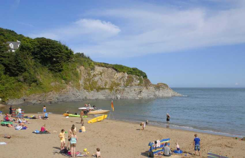 Just one of two Blue Flag beaches at the little seaside village of Aberporth a short drive away along Cardigan's Heritage Coast