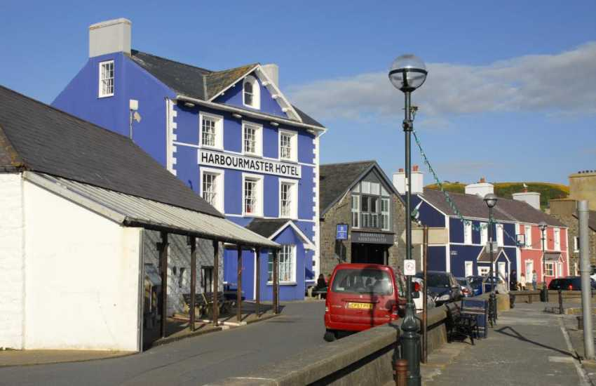 Try the award winning Harbourmaster Hotel, Aberaeron, for good food and excellent local ales