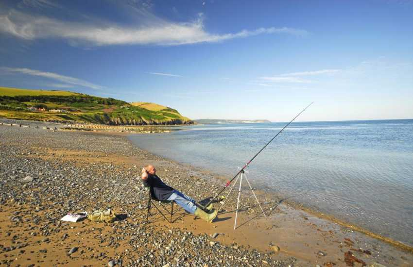 Aberaeron's South Beach- spend a peaceful afternoon fishing or strolling along the shores