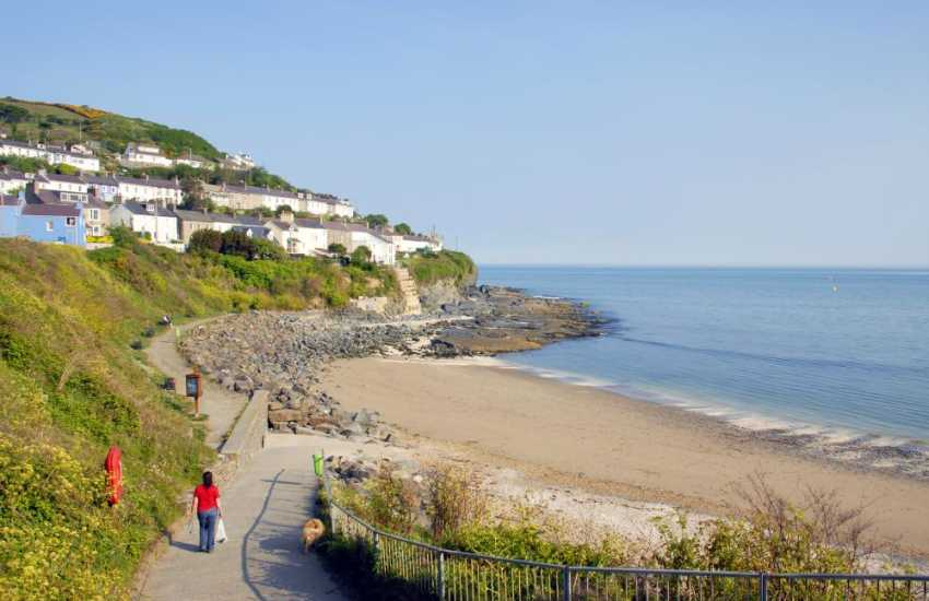 Dolau Beach is just one of New Quay's  3 beautiful sandy Blue Flag beaches