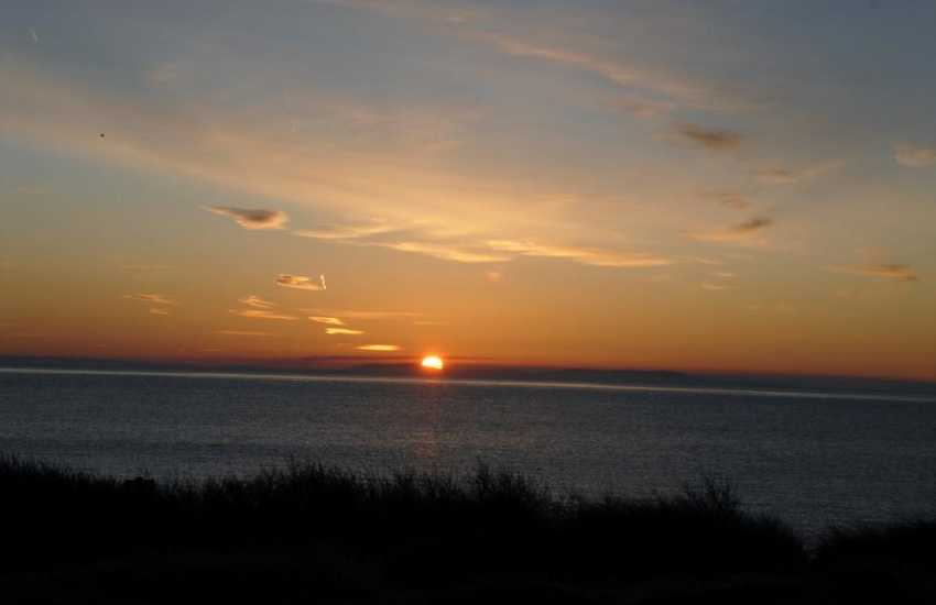 Enjoy the stunning Cardigan Bay sunsets