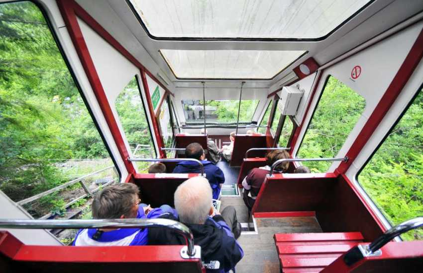 The Centre for Alternative Technology Cliff Railway is the only modern water-operated funicular