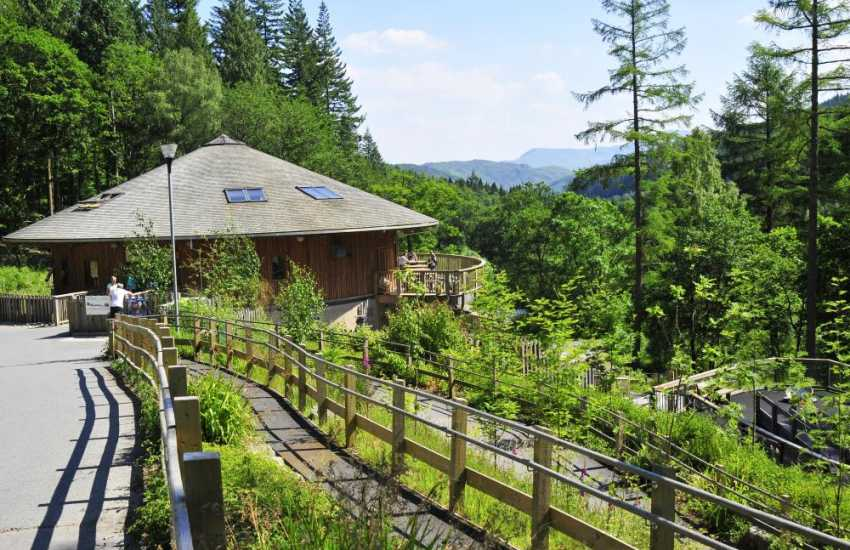 A great day out for cyclists and walkers at the Coed Y Brenin forest park a short drive from Dolgellau