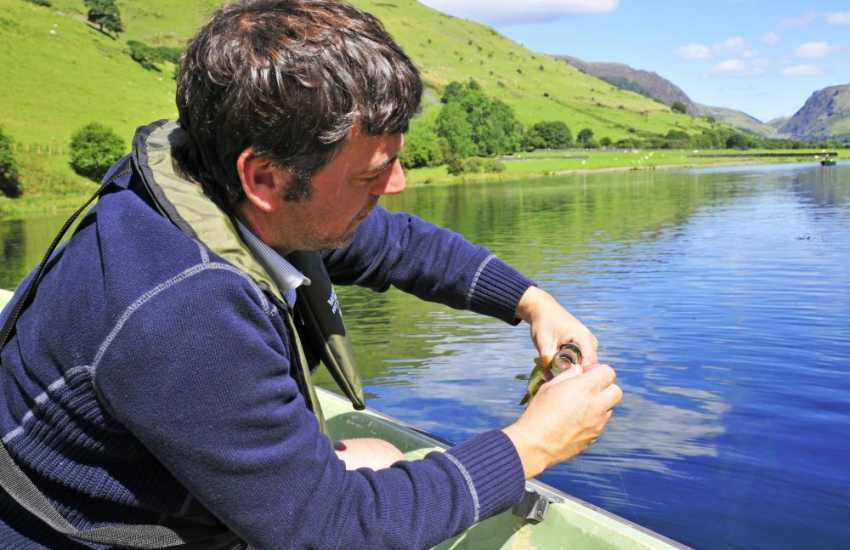 Free fishing on the Tal y Llyn lake