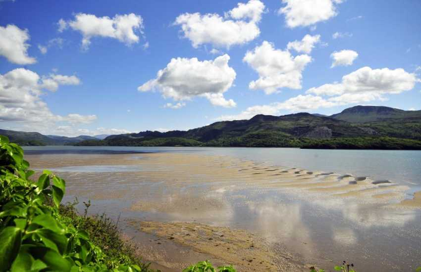 The beautiful Mawddach Estuary, with plenty of riverside walks and nature trails to explore