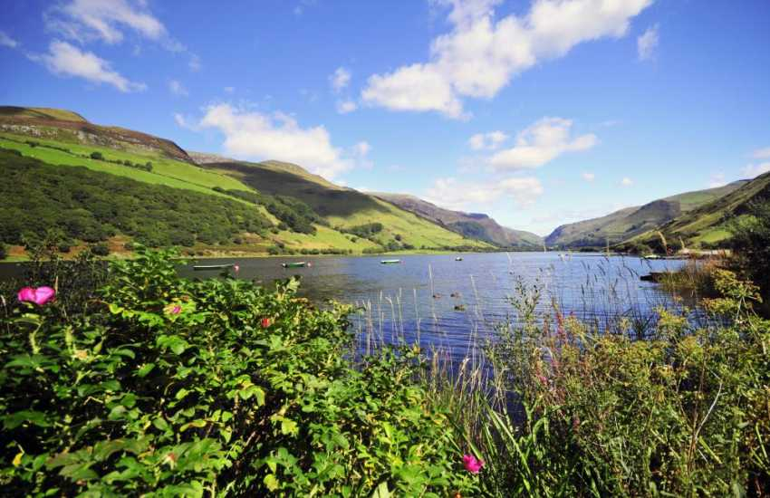 Talyllyn lake, surrounded by dramatic mountain scenery