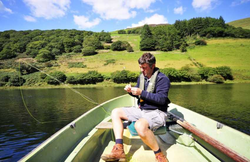Fishing in North Wales on one of the many tranquil lakes