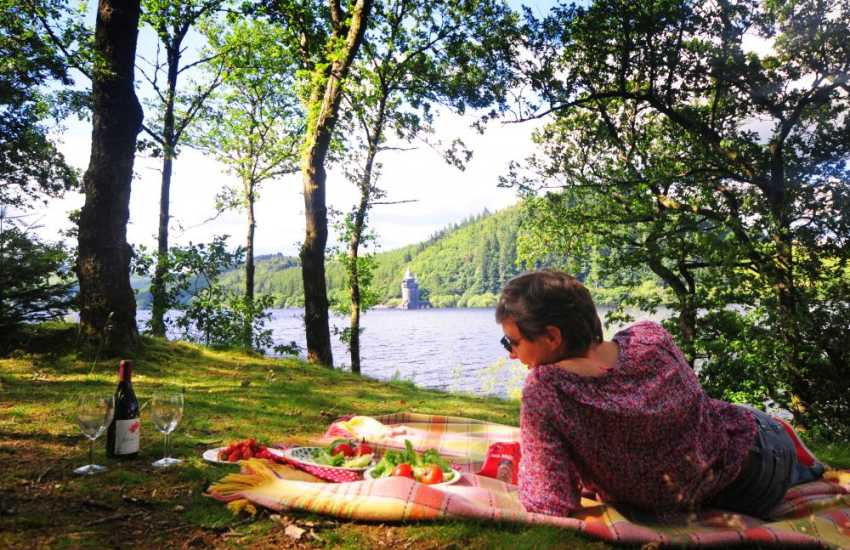 Picnicing by Lake Vyrnwy