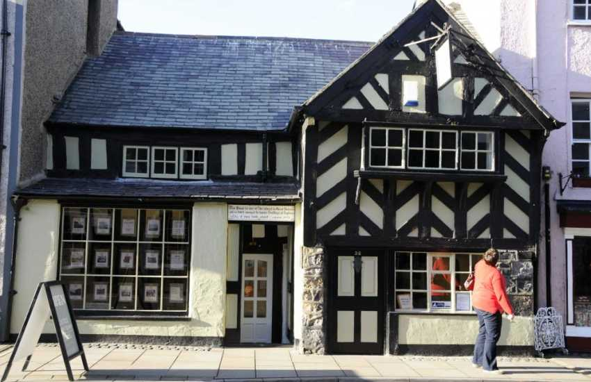 One of many Historic buildings in Beaumaris, this is the oldest house in Great Britain built about 1400