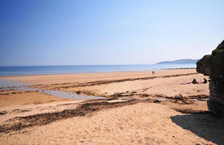 Benllech beach, certainly one of Anglesey's most beautiful beaches. Lots of clean sand and space, ice cream parlours, seaside shop and cafe right beside the beach