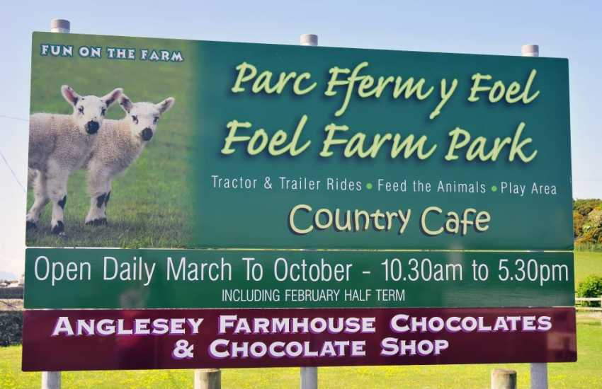 Foel Farm Park - there are tractors, quad bikes, mini-trailer rides, pony rides, the chance to meet and feed the farm animals and lots more!