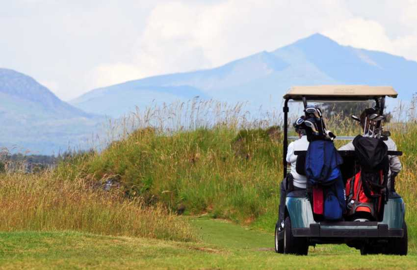 St. Davids golf course Harlech with Snowdon in the distance