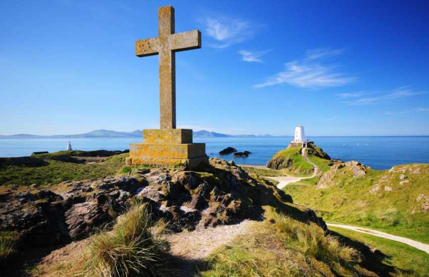 From the tip of Llanddwyn Island on Anglesey you can see the mountains of the Lleyn Peninsula