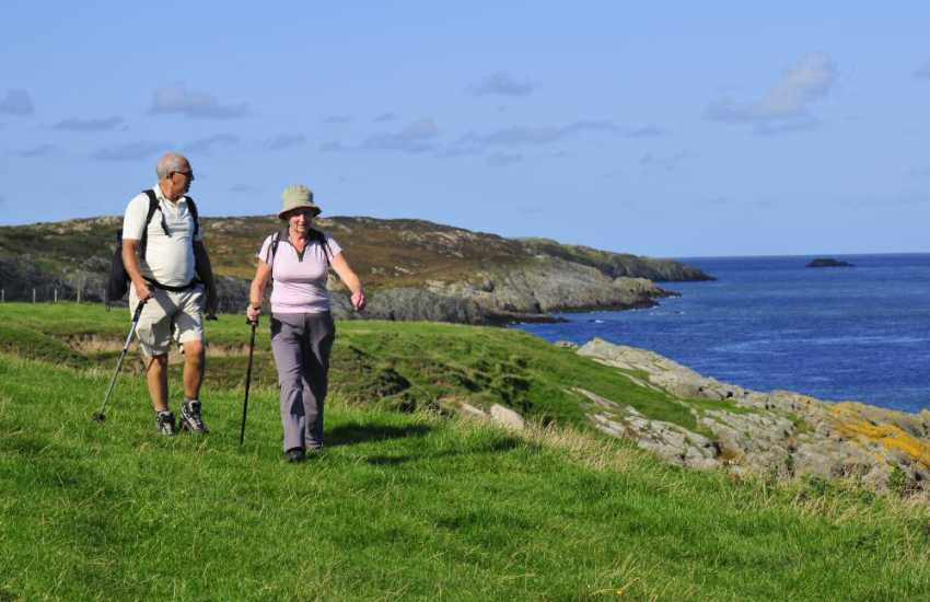 Walkers on the Anglesey Coastal Path