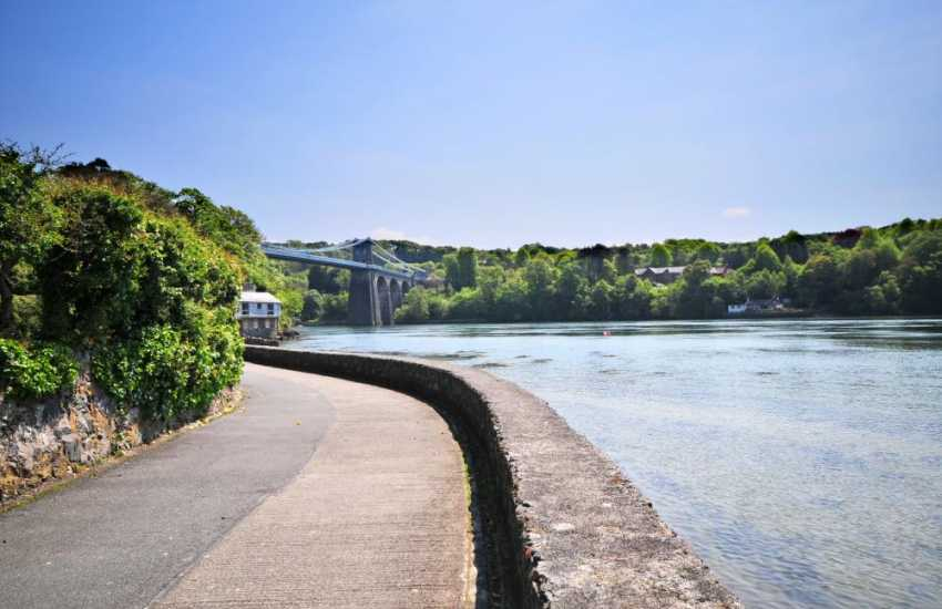 Menai Bridge, walks along the waters edge