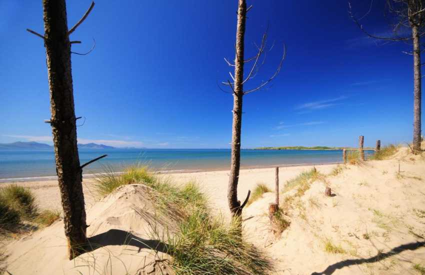 Newborough beach and Llanddwyn Island on Anglesey