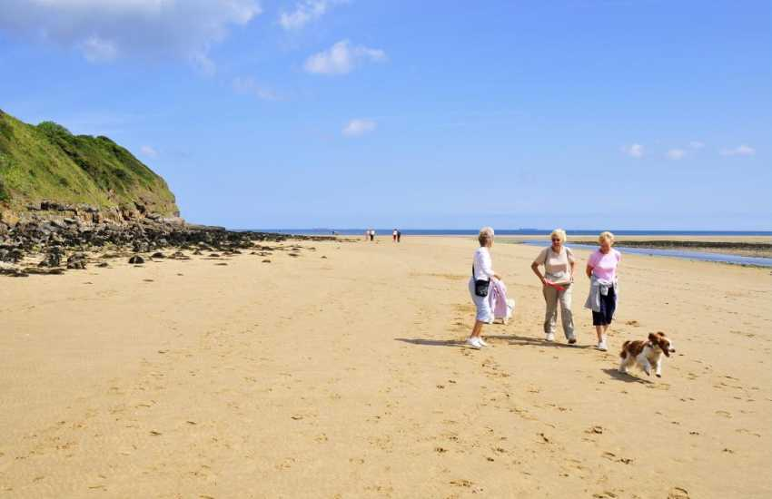 Beautiful sandy beach for people and pets alike at Red Wharf Bay on the east coast of Anglesey