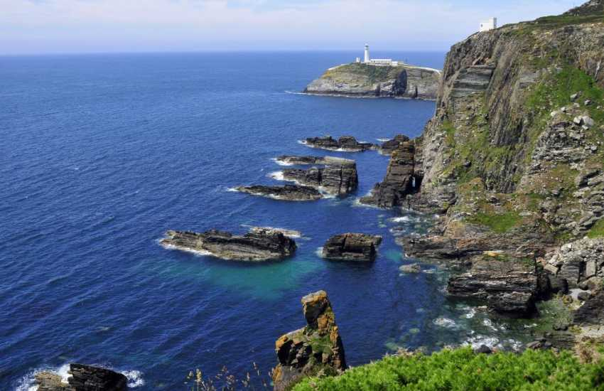The R.S.P.B. nature reserve at South Stack, with its fabulous coastal walks