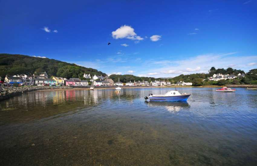 Borth Y Gest beach and harbour