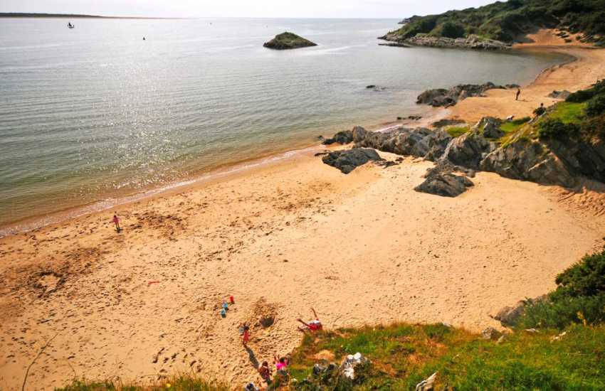Explore the gorgeous, secluded sandy coves around Borth y Gest