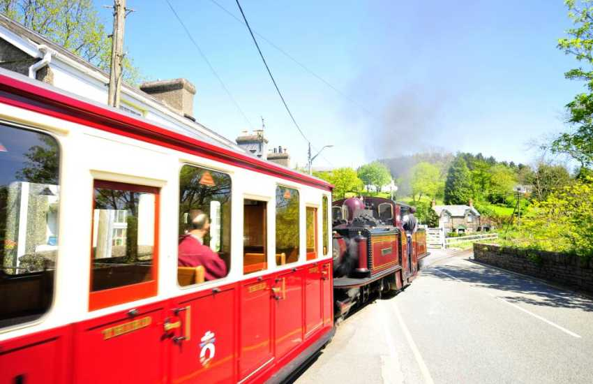 The Ffestiniog Railway - take a trip on the narrow gauge railway from Porthmadog to Blaenau Ffestiniog, with wonderful views along the way