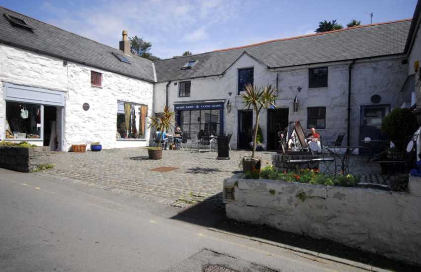 One of a number of delightful eating houses in Harlech where one can relax and enjoy the ambience of this historic town.