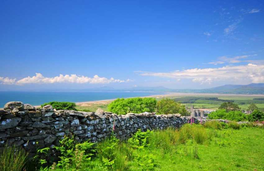 Harlech from the scenic, well-marked footpaths above the town