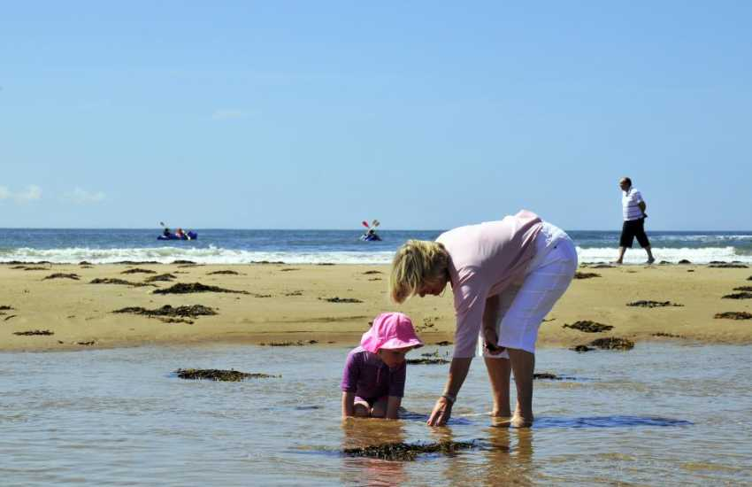 Family fun on one of the many lovely beaches on the LLeyn Peninsula