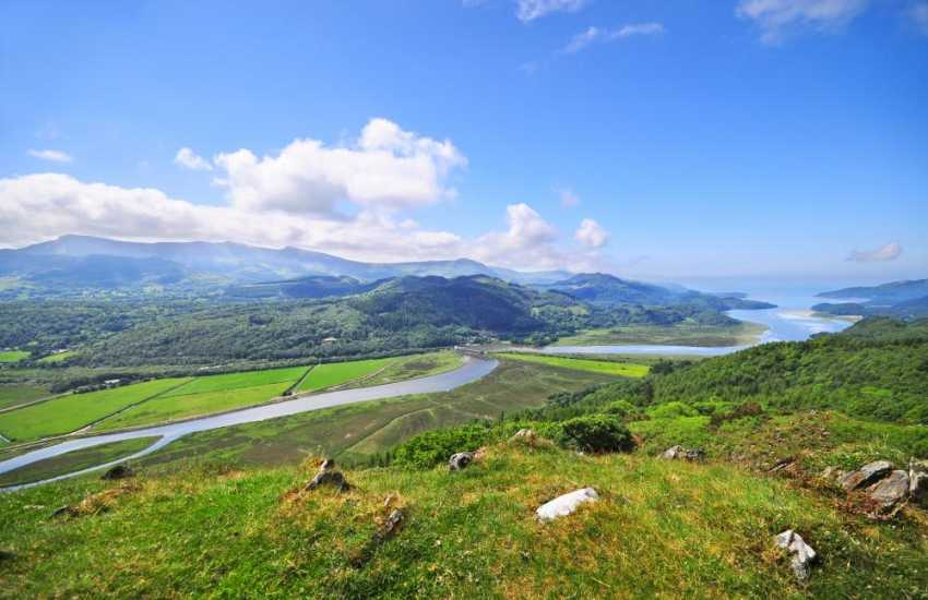 A birds eye view of the Mawddach estuary