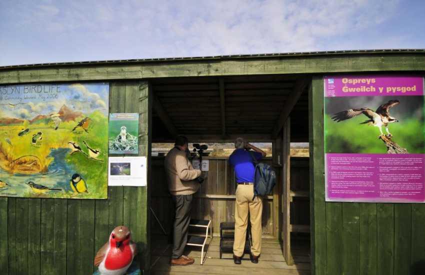 Glaslyn RSPB Centre near Porthmadog  - for watching Ospreys