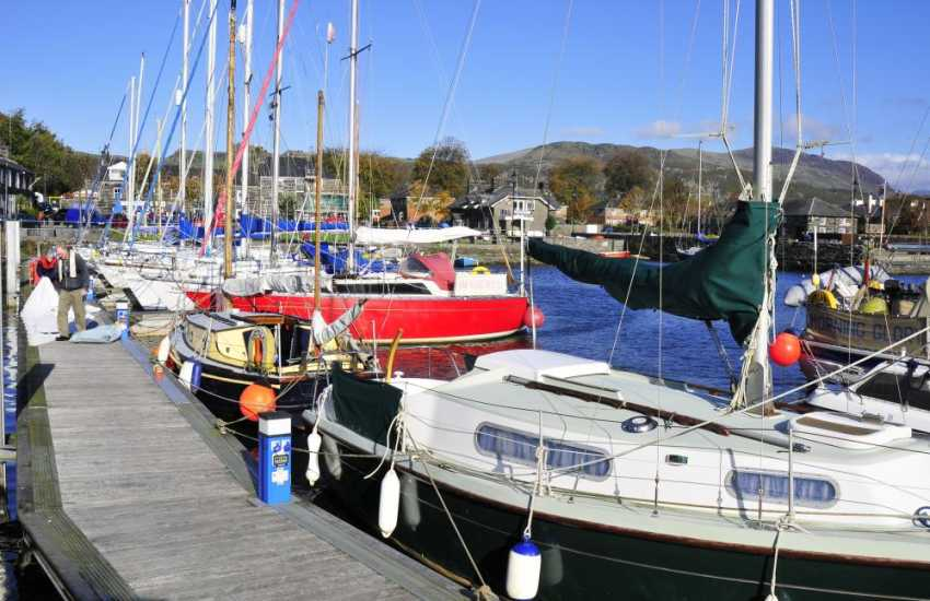 Porthmadog - one of a number of interesting towns to visit along the southern coast of the Lleyn Peninsula.